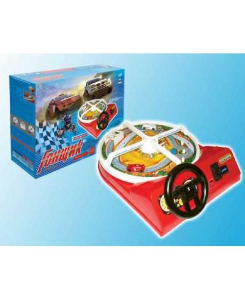 Игра настольная Гонщик-М (игрушечный руль) Омский завод электротоваров ОМ-48300