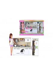 Набор Defa - Современная кухня в комплекте с куклой, 2 вида, Defa Lucy, 6085d