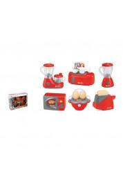 Набор бытовой техники — соковыжималка, блендер, плита, микроволновая печь, яйцеварка, тостер, Junfa Toys, 979-32