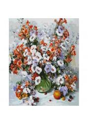 Раскраски по номерам. Картина Городские цветы, 40*50 см