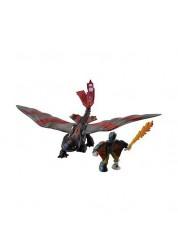 Dragons 66594-Toot1 Дрэгонс Набор дракон и всадник (Беззубик черно-красный)