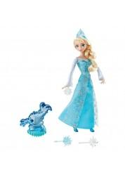 Кукла Эльза Холодное сердце с 3 снежинками и Зефиркой (свет) Mattel CGH15