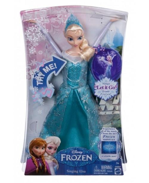 Кукла Эльза, поёт песню на русском, из мультфильма Холодное сердце DFR33