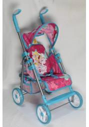 1toy Winx коляска для кукол премиум 535х34х68см синяя Т56208