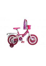 Велосипедсипед Navigator Barbie двухколесный с боковыми колесами и корзинкой на руле