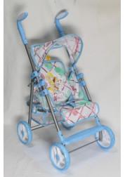 1toy Winx коляска для кукол премиум 535х34х68см голубая Т56209