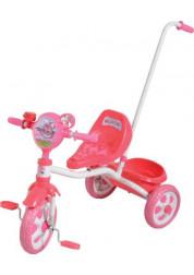 Велосипед детский 1toy Angry Birds 3-х колесный 10 дюймовый с ручкой Т56839