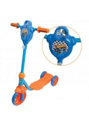 Самокат детский 1toy Hot wheels 3-х колесный Т57587