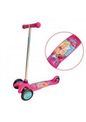 Самокат детский 1toy Barbie 3-х колесный Т57618