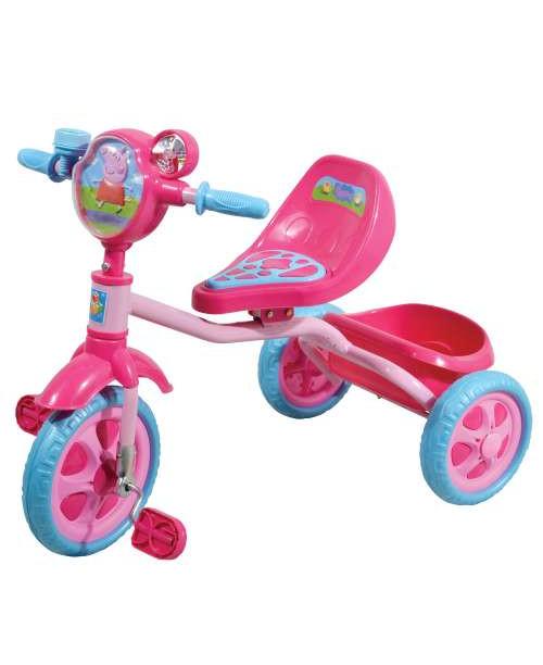 Велосипед детский 1toy Peppa 3-х колесный 10 дюймовый Т57573