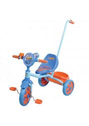 Велосипед детский 1toy Hot wheels 3-х колесный 10 дюймовый с ручкой Т57574