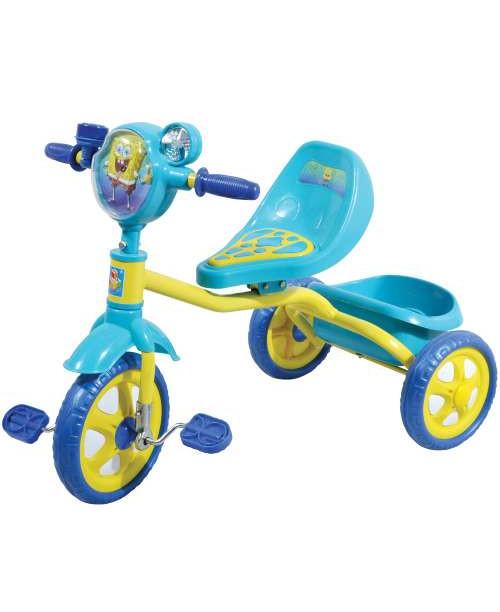 Велосипед детский 1toy Губка Боб 3-х колесный 10 дюймовый Т57655