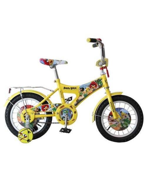 Велосипедсипед Navigator Angry Birds двухколесный с боковыми колесами (желтый)