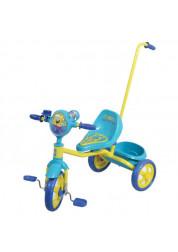 Велосипед детский 1toy Губка Боб 3-х колесный 10 дюймовый с ручкой Т57575