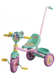 Велосипед детский 1toy Ну, погоди! 3-х колесный 10 дюймовый с ручкой Т54031