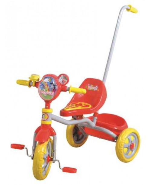 Велосипед детский 1toy Ну, погоди! 3-х колесный 10 дюймовый с ручкой Т54032