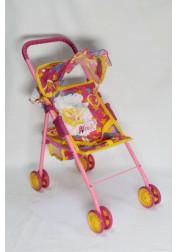 1toy Winx коляска для кукол 475х25х55см красная Т55785