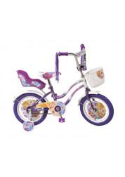 Велосипед Navigator WINX двухколесный с боковыми колесами и корзинкой на руле (фиолетовый)