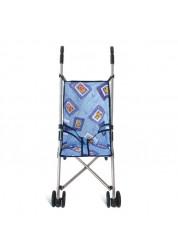 1toy коляска для кукол 39х285х55см голубая Т52258