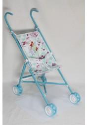 1toy Winx коляска для кукол 42х275х58см голубая Т56206