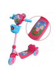 Самокат детский 1toy Peppa 3-х колесный Т57576