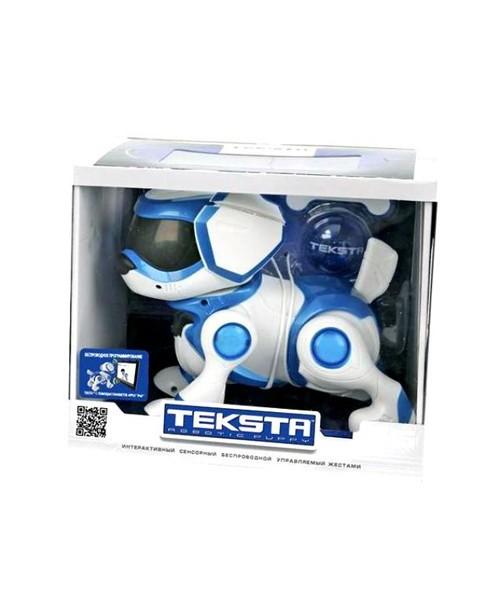 Щенок Teksta Robotic Puppy. Интерактивная собака робот Текста (голубой)