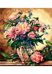 Раскраски по номерам. Картина Букет лесных цветов, 40*50 см