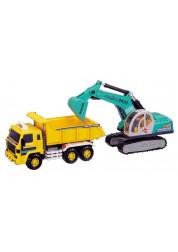Самосвал игрушечный с экскаватором Daesung