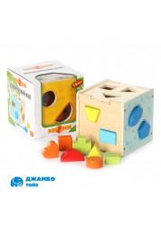 Деревянная игрушка Логический куб Папа Карло
