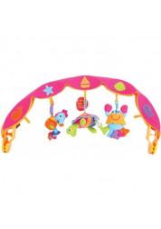 Детская дуга музыкальная с 3 игрушками 381 Tiny Love розовая