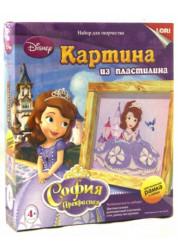 Картина из пластилина София Прекрасная Disney