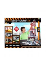 Игровой набор с небоскребом и железной дорогой Power Construction