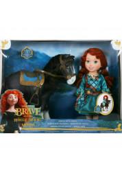 Набор с куклой Малышка Мерида и конь Disney Принцесса