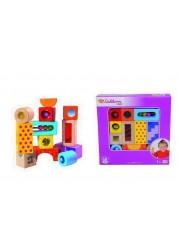 Кубики развивающие со звуком, 12 деталей