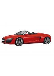 Автомобиль Audi R8 Spyder red 1:43