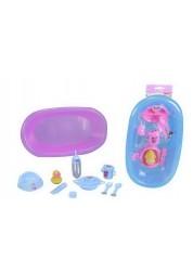 Ванночка с аксессуарами для купания кукол