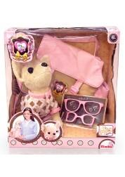 Плюшевая собачка Chi Chi Love с сумкой и очками