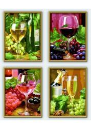 4 картины Вино Schipper