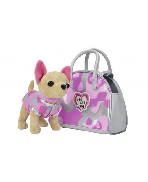 Плюшевая собачка Чихуахуа Розовый камуфляж Chi Chi Love