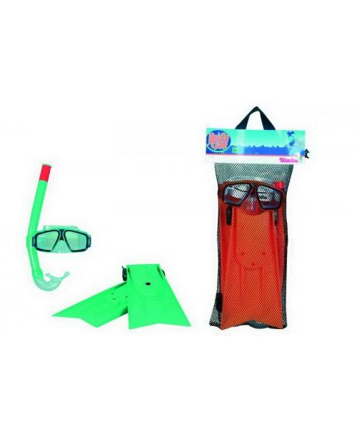 Набор: ласты, трубка, очки для плавания