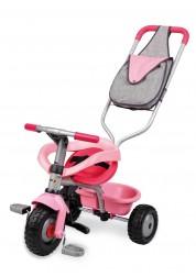 Трехколесный велосипед розовый с сумкой Smoby