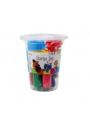 Пластилин Stationery в стаканчике 10 цветов с инструментами