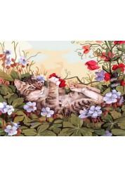 Раскраска по номерам Кошкины забавы 40х50 см