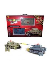 Танковый бой в наборе: 2 р/у танка (Т34 и Тигр) Abtoys C-00135