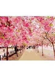 Раскраски по номерам Розовая аллея