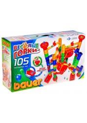 Конструктор Весёлые горки 105 элемента ( в коробке) Bauer 274b