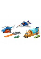 Набор с полицейскими вертолетом и машинкой Hot wheels
