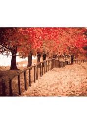 Раскраски по номерам Осенняя пора