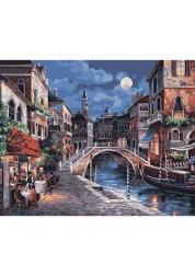 Раскраски по номерам Ночная Венеция 40х50 см