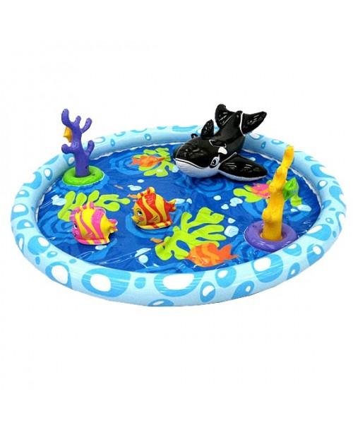 Водный игровой центр Морской пейзаж надувной 196х51см Intex 57448